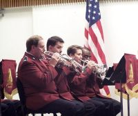 Front row cornets (left to right) Ian Anderson, Kevin Hodges, Jonathan Sears, Keith Morris (flugelhorn)