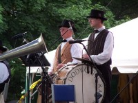 Dodworth Saxhorn Band percussionists