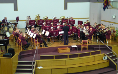 London Central Fellowship Band on stage at Regent Hall
