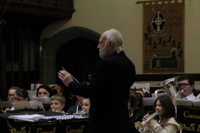 Richard Evans conducting the Cornwall Youth Brass Band, December 2013