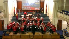 Birmingham Citadel Band on stage at Norwich Citadel