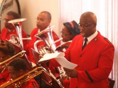 "Deputy Bandmaster Jamel Bean sings ""Banners and Bonnets"""