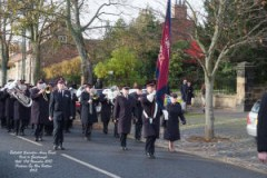 The Bellshill Band on the march in Guisborough