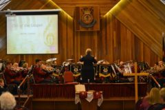 Bellshill Band (Bandmaster Yvonne Ferguson) at Clydebank Corps, October 2016