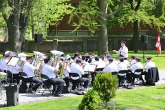 The band plays during the service at Mount Pleasant Ceremony
