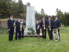 The ensemble at the Canadian Pacific monument for the tragedy