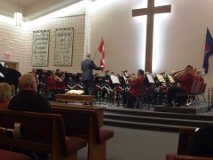 Canadian Staff Band (Bandmaster John Lam) at Mountain Citadel, Hamilton, Ontario