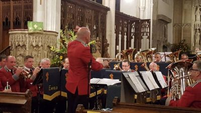 Jonathan Corry conducts The Red Shield at Long Melford, September 2016