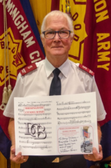 George Dickens retires after 60 years of service as a bandsman