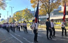 German Staff Band marches in Berlin, October 2018