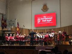 International Staff Band (Bandmaster Dr. Stephen Cobb) at Regent Hall, March 2017