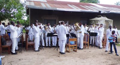 Kintambo Band at the 10th anniversary service for the Plateau District, eastern Kinshasa