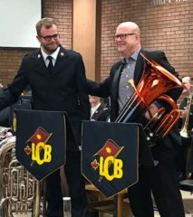 Jonathan Rowsell and Patrick Sheridan (with the rainbow tuba), London Citadel, October 2018