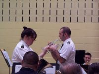 Cornet soloist Derek Lance with the Spring Valley Corps Band
