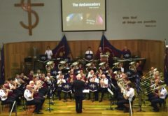 Brisbane City Temple Band and Melbourne Staff Band, combined ensemble, October 2018
