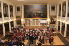 The New York Staff Band at historic Faneuil Hall, Boston, Massachusetts, November 2018