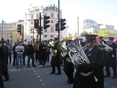 Regent Hall Band marches to the Cenotaph on Remembrance Day 2013