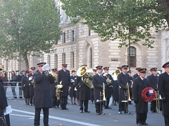 Paul Sharman plays The Last Post before a wreath is laid at the Cenotaph, Remembrance Day 2013
