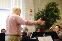 Bandmaster Dave Downing conducts the Alexandria Citadel Youth Band